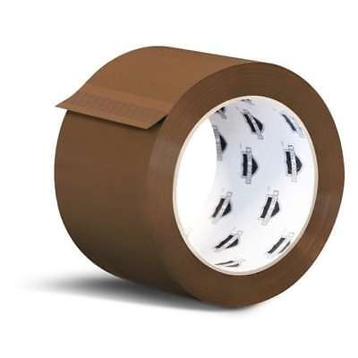 24 Roll / Case Brown Tan Acrylic Packing Tape Shipping 2 Mil 3-inch x 110 Yards