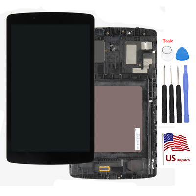 LCD Display Touch Digitizer + Frame Assembly For LG G pad F 8.0 V496 V495 UK495