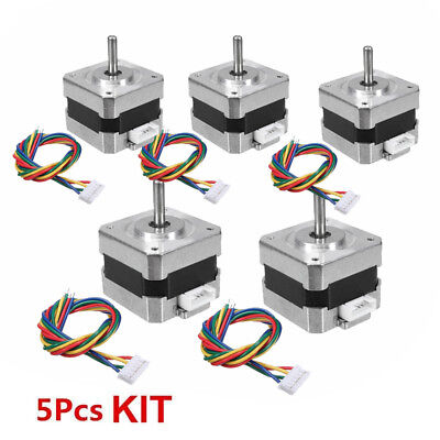 1/2/3/5PC 28Ncm Nema 17 Stepper Motor 0.4A 4-wire Cable For 3D Printer CNC Robot