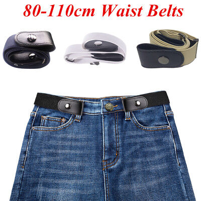 Buckle-free Elastic Adjustable Invisible Belt for Jeans No Bulge Hassle 2019