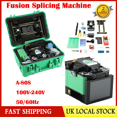 UK A-80S Fiber Optical Welding Splicing Machine Fiber Fusion Splicer Kit 50/60Hz