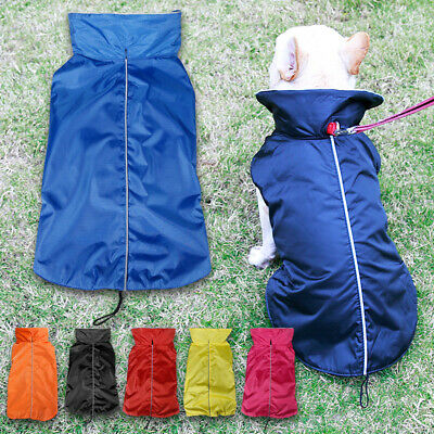 Outdoor Sport Waterproof Rain Jacket Breathable Lined Coats for Small Medium Dog
