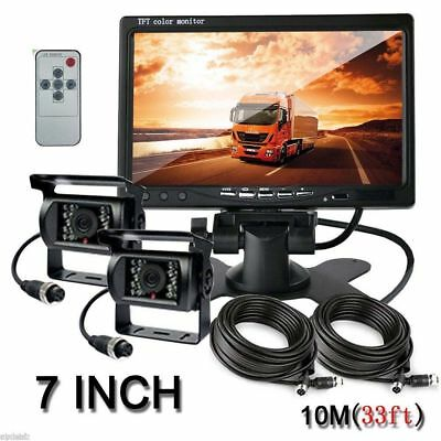 "7"" LCD Monitor Parking System for Truck + Wireless IR Night Vision Backup Camera"