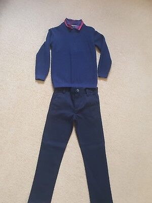 Boys Next Tartan jumper And Chinos Christmas day outfit Age 4