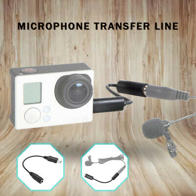 Mini USB To 3.5mm Microphone Mic Cable Adapter For GoPro Hero 4 3+ 3 Camera Cam