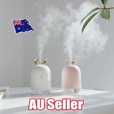USB Ultrasonic Air Humidifier Essential Oil Aroma Diffuser Aromatherapy 7 LEDs J