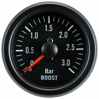 52mm Black Waterproof 3 BAR Boost gauge ideal Kit Car or Marine
