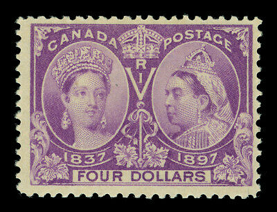 CANADA 1897 JUBILEE issue  $4 purple Scott # 64 mint MLH beautiful & fresh stamp