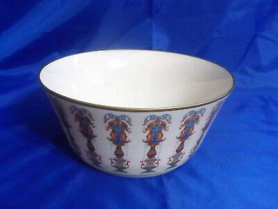 "Vintage Lenox Lido Large Serving Salad Bowl 10-1/2"" Hand Decorated w/ 24K Gold"