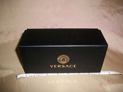 "7""  VERSACE Black EMPTY Eye Sunglasses Gift Box Genuine from Authorized Retailer"