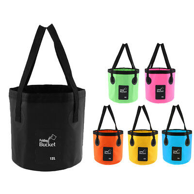 Foldable Bucket Collapsible Water Carry Bag for Camping Caravan Fishing Outdoor
