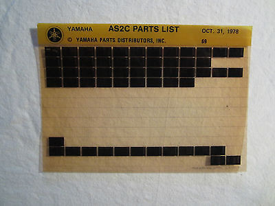 1969 Yamaha Motorcycle AS2C Microfiche Parts Catalog AS 2 C