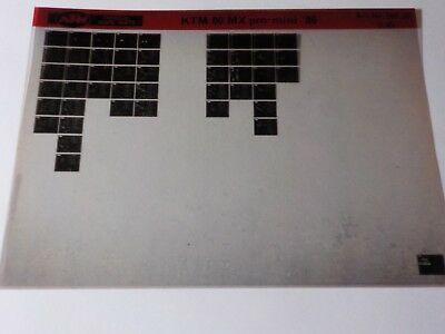 1986 KTM Motorcycle 80 MX Pro Mini Microfiche Parts Manual DEALER FACTORY
