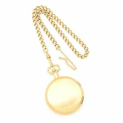 Satin Finish Gold-plated Brass Pocket Watch by Charles Hubert Paris Watches, Bes