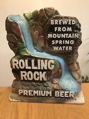 Rolling Rock Ceramic Beer Sign