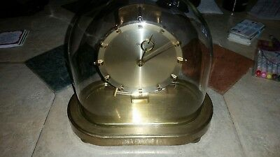 Working Kieninger&Obergfell Kundo Electromagnetic German Brass Glass Dome Clock