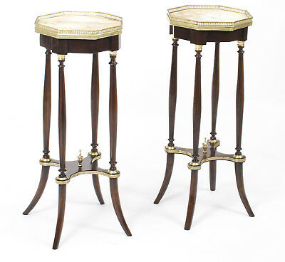Antique Pair Ormolu Mounted Jardiniere Stands / Occasional Tables 19th C