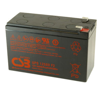 CSB UPS12580 Rechargeable Sealed Lead Acid Battery 12V 580W UPS 12580 F2 SLA