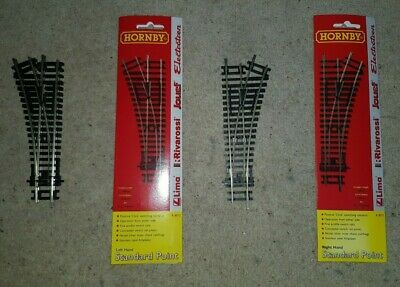 OO gauge Hornby R8072 left R8073 right hand nickel silver point track