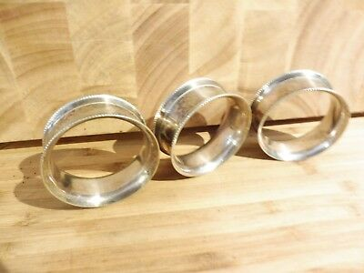 Found* 3 Antique Georgian Esk  Silver Plate Napkin Rings Marked 4,3, & 2