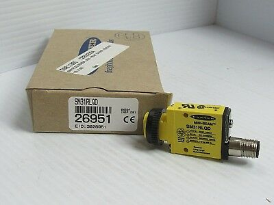 New Banner Mini Beam Photoelectric Sensor Sm31Rlqd 26951
