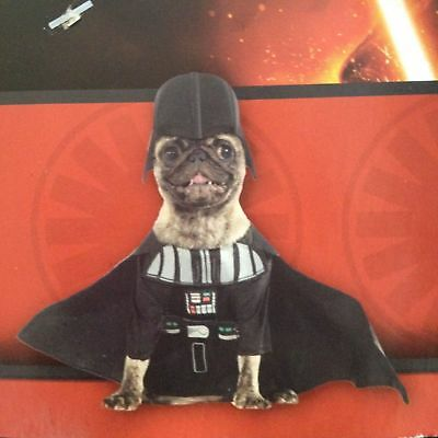 RUBIE'S DISNEY Star Wars DARTH VADER Pet Dog COSTUME Size Large