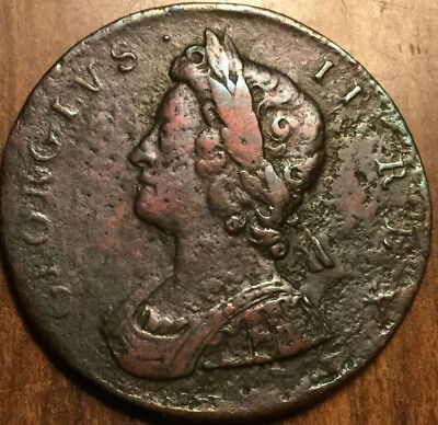 1729 UNITED KINGDOM HALFPENNY - A beautiful example !