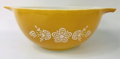 Vintage Pyrex Butterfly Gold Cinderella Nesting Mixing Bowl 1 1/2 Quart #442
