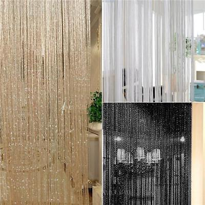Plain String Panel Modern Room Divider Door Curtain Bright Colours 6A