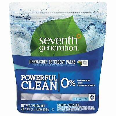 Seventh Gen. 45 Packet Free and Clear Natural Dishwasher Detergent Concentrated