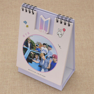 1X Kpop BTS 2019 Mini Picture Photo Desk Calendar for Table Desk Family Supplies