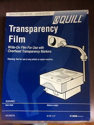 Quill Transparency Film approx. 100 sheets Write-On Film for Overhead Markers