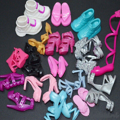10X Party Dress Outfits Clothes Daily Dance Shoes For Barbie Doll Dance Shoes