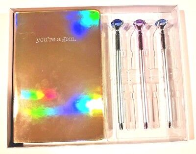 Journal Notebook Diary Gift Set With Three Pens Your A Gem Themed Notebook New