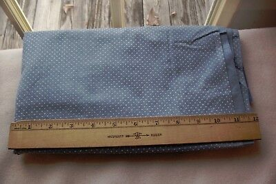 Vtg Dotted Swiss Fabric for Dolls/Sewing/Crafts Cadet Blue White Dots