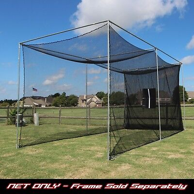 Golf Cage Practice Net 20' x 10' x 10' (#252 Poly) Net & Baffle (NO FRAME KIT)