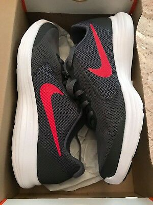 e70839226cd New Nike Revolution 3 (GS) Dark Grey Red White Youth Running Shoes Size 5.5