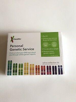 New 23andMe DNA Test Saliva Collection Kit