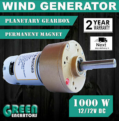 Powerful new hydroelectric wind turbine power generator 12v-72v -1000W