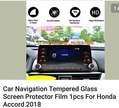 2018 Honda Accord Navagation Protective Clear Screen Tempered Glass