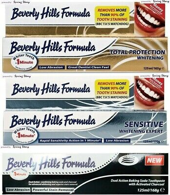 Beverly Hills Charcoal/Total Protection/Sensitive Whitening Toothpaste XL 125ml