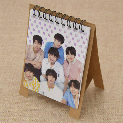 BTS Kpop 2019 New Year Mini Pocket Desk Table Calendar Inches Plain Desk Decor