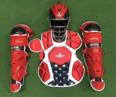 All Star System 7 Axis Youth 10-12 USA Catchers Gear Set - Red White Blue