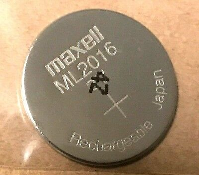 Brand New Maxell ML2016  Rechargeable 2016 3V CMOS Backup Battery, Made in Japan
