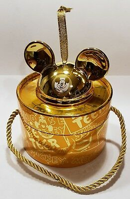 NEW Disney Gold Porcelain Ear Hat Ornament LE 2000 Mickey Mouse Club 90th Anniv