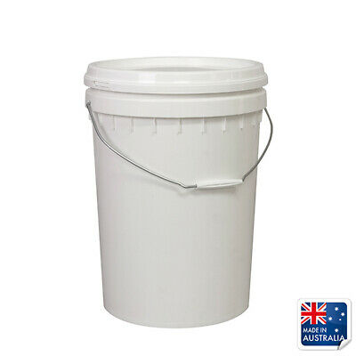 Food Safe Pail Bucket 20L Okka Ingredient Tub With Lid & Handle Container Oil