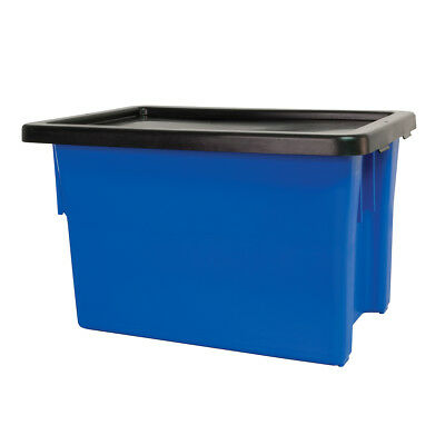 Ingredient Storage Tub Blue 68L & Lid Okka Food Grade Container Box Tubs