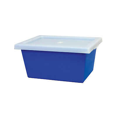 Ingredient Storage Tub Blue 22L & Lid Okka Food Grade Container Box Tubs
