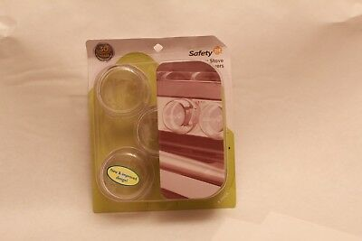 Safety 1st Clear View Stove Knob Covers, 5 Count (H101107) Brand New