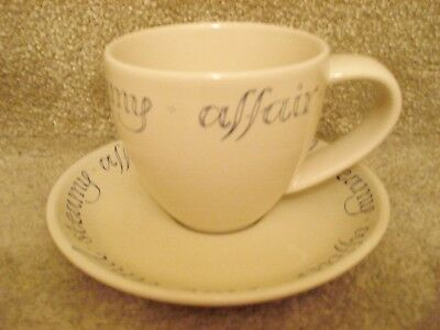 Whittard of Chelsea Wisdom in a Cup Hot and Steamy Affair Cup and Saucer